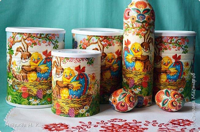 Здравствуйте, мои дорогие! С праздником вас Светлой Пасхи! Сегодня я покажу, как можно превратить баночки от детского питания в расписную тару для конфет, а так же мелких подарочков. фото 22