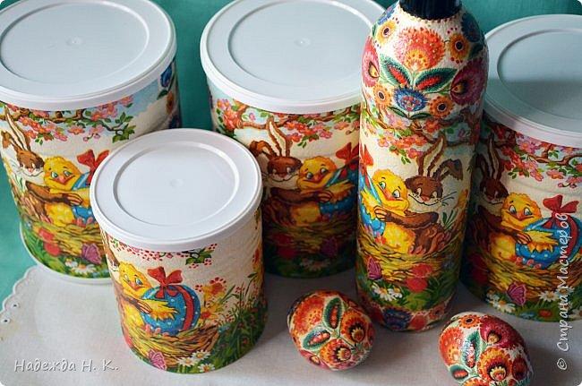 Здравствуйте, мои дорогие! С праздником вас Светлой Пасхи! Сегодня я покажу, как можно превратить баночки от детского питания в расписную тару для конфет, а так же мелких подарочков. фото 23