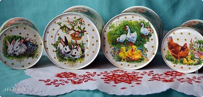 Здравствуйте, мои дорогие! С праздником вас Светлой Пасхи! Сегодня я покажу, как можно превратить баночки от детского питания в расписную тару для конфет, а так же мелких подарочков. фото 37