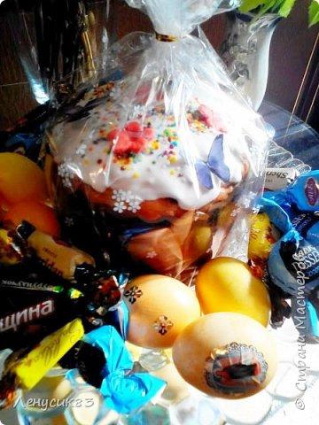 Всем привет! Сегодня покажу и похвастаюсь пасхальными приготовлениями))) В этом году очень захотелось сделать корзинку с объемными большими цветами - и вот, что у меня вышло))) фото 9