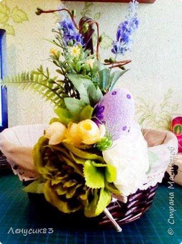 Всем привет! Сегодня покажу и похвастаюсь пасхальными приготовлениями))) В этом году очень захотелось сделать корзинку с объемными большими цветами - и вот, что у меня вышло))) фото 4