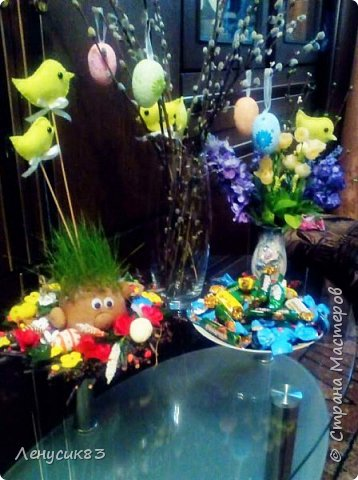 Всем привет! Сегодня покажу и похвастаюсь пасхальными приготовлениями))) В этом году очень захотелось сделать корзинку с объемными большими цветами - и вот, что у меня вышло))) фото 7