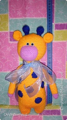 Апельсиновый жирафик. В подарок очаровательной малышке. ≈32 см детской радости. фото 1