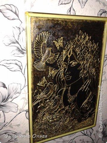"""Это моя первая конкурсная работа. Картинка взята из интернета, а работа, исполненная в технике пейп-арт ( аппликация из скрученных салфеточных жгутиков) моя. Это я для объяснения разгоревшихся страстей вокруг моей картины. Спасибо Тане Сорокиной за такой замечательный конкурс в ее технике. Спасибо также всем участникам, которые участвовали в конкурсе, а так же всем, кто голосовал. Приятно было получить диплом за 2-е место из рук самого автора, да еще и в праздничный день. Спасибо Тане Сорокиной за ее трудолюбие, терпение и благосклонность к нам (ее ученикам-заочникам). Желаю всем """"жителям"""" Страны мастеров всех благ и творческих успехов!!!  фото 6"""