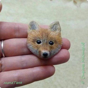 Брошь лисёнок