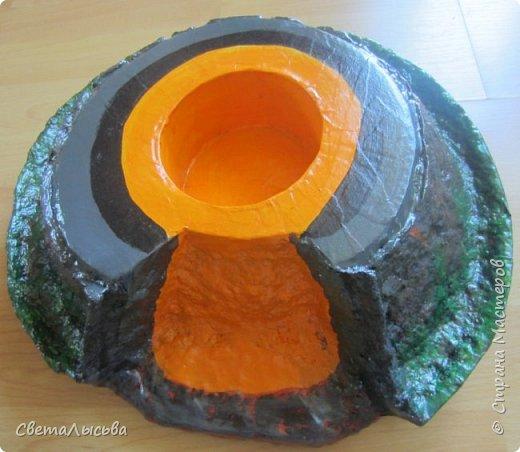 Здравствуйте, все, кто зашел в гости! Это модель вулкана, она же ночник, мини-лаборатория для опытов, копилка для монеток и хранилище для всяких очень нужных детских секретиков. Итак, поехали. фото 12