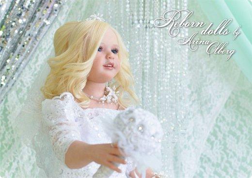 Здравствуйте, дорогие девочки-мастерицы, и просто гости сайта! Хочу показать вам мою самую долгую по времени из всех моих  работ над куколками. Это нарядная девочка-весна в образе невесты- ЛЮБАВА. Не только сама куколка, но и свадебное платье, аксессуары- всё ручная работа талантливых мастериц,по индивидуальным меркам. Рост 105см. Эта девочка украсит любую коллекцию. фото 4