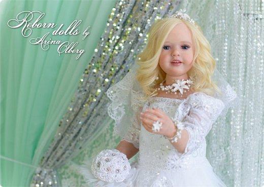 Здравствуйте, дорогие девочки-мастерицы, и просто гости сайта! Хочу показать вам мою самую долгую по времени из всех моих  работ над куколками. Это нарядная девочка-весна в образе невесты- ЛЮБАВА. Не только сама куколка, но и свадебное платье, аксессуары- всё ручная работа талантливых мастериц,по индивидуальным меркам. Рост 105см. Эта девочка украсит любую коллекцию. фото 16