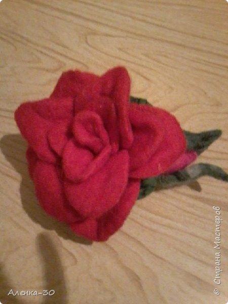 "Брошь ""Теплая роза"""