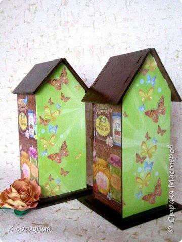 Всем привет.Мои очередные домики для чайных пакетиков. фото 4