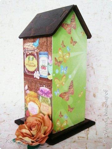 Всем привет.Мои очередные домики для чайных пакетиков. фото 8