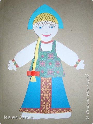 """Читали с сыном сказку """"Марья Моревна"""". В книжке изображены русские красавицы. Захотелось чтобы такая красавица появилась в арт-проекте """"Дети-планеты"""". фото 1"""