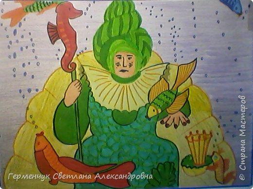 """Этот диафильм по сказке А.С.Пушкина""""Сказка о рыбаке и рыбке""""  ребята 4 класса  подготовили  к уроку  литературного чтения.   фото 8"""