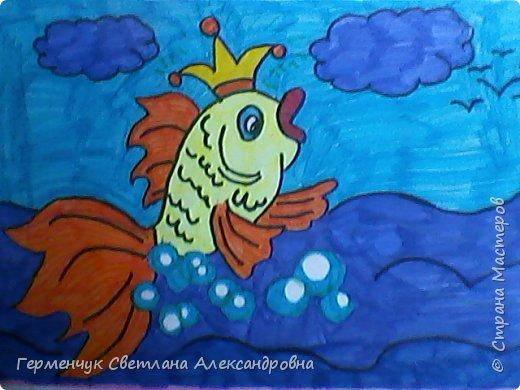 """Этот диафильм по сказке А.С.Пушкина""""Сказка о рыбаке и рыбке""""  ребята 4 класса  подготовили  к уроку  литературного чтения.   фото 5"""