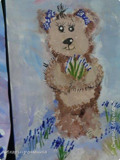 В подарок мамам рисовали весеннюю картину. Это моя работа. фото 3
