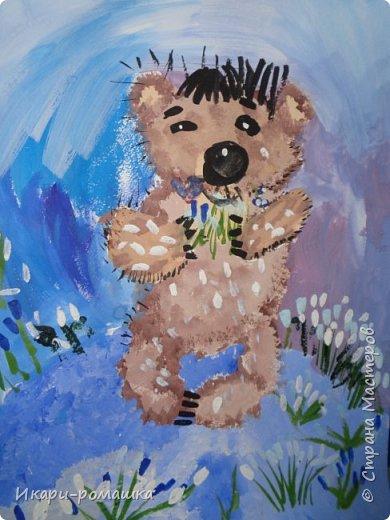 В подарок мамам рисовали весеннюю картину. Это моя работа. фото 5