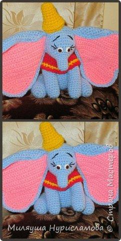 Голубой слоник с розовыми ушами!)