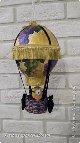 """Всем здравствуйте! """"Очнись - уже ВЕСНА"""" )))))- сказала мне сестра, когда увидела мои новогодние домики, а я все не унимаюсь.  Вот  вам шары, новогодний и воздушный. Шары из папье - маше, основой  был воздушный шарик. фото 8"""