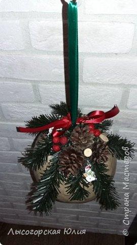"""Всем здравствуйте! """"Очнись - уже ВЕСНА"""" )))))- сказала мне сестра, когда увидела мои новогодние домики, а я все не унимаюсь.  Вот  вам шары, новогодний и воздушный. Шары из папье - маше, основой  был воздушный шарик. фото 4"""