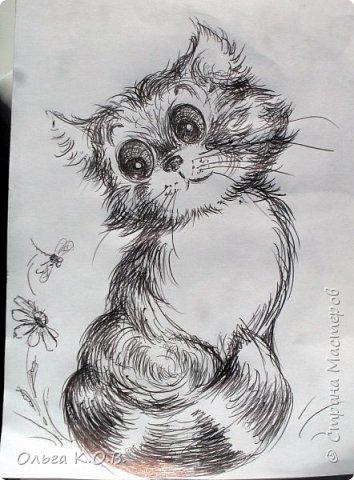 Рисунки в транспорте и мишка фото 4