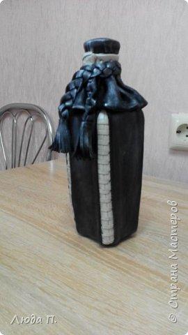 Кожаная бутылка фото 1
