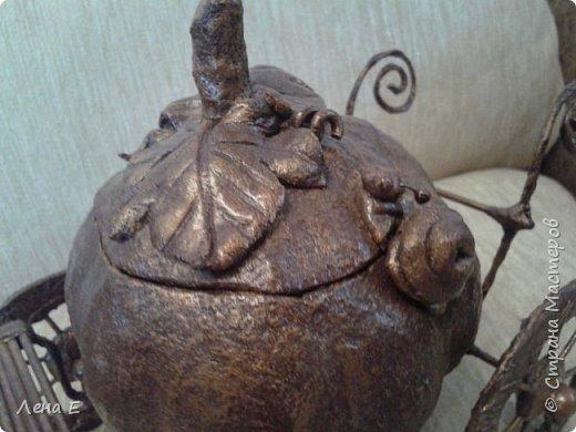 папье -маше, листики и улитка соленое тесто фото 2