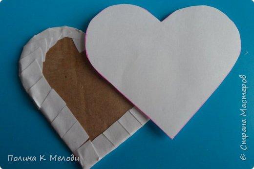 Всем привет гостям моей странички и друзьям .Решила порадовать вас МК, мы сделаем приятное сердце в подарок .Для этого нам потребуется плотный картон,белая бумага,клей ПВА,моток пряжи,ножницы,ручка,клеевой пистолет или другой крепкий клей,декор по желанию. фото 14