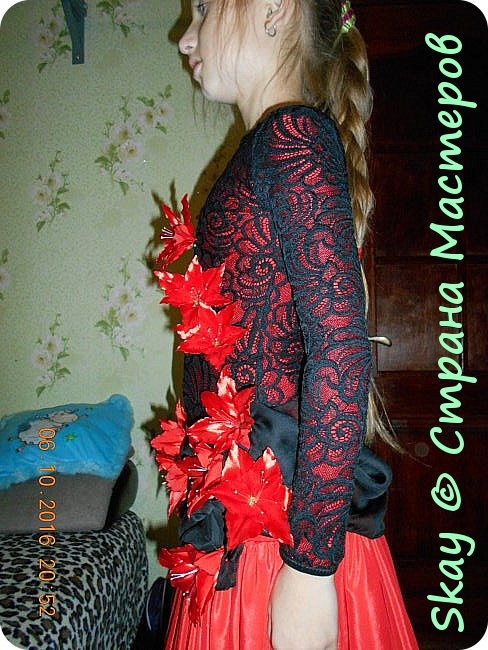 Моя последняя работа - платье в стиле фламенко для belli dance (восточные танцы). фото 4