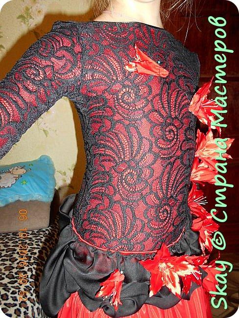 Моя последняя работа - платье в стиле фламенко для belli dance (восточные танцы). фото 2