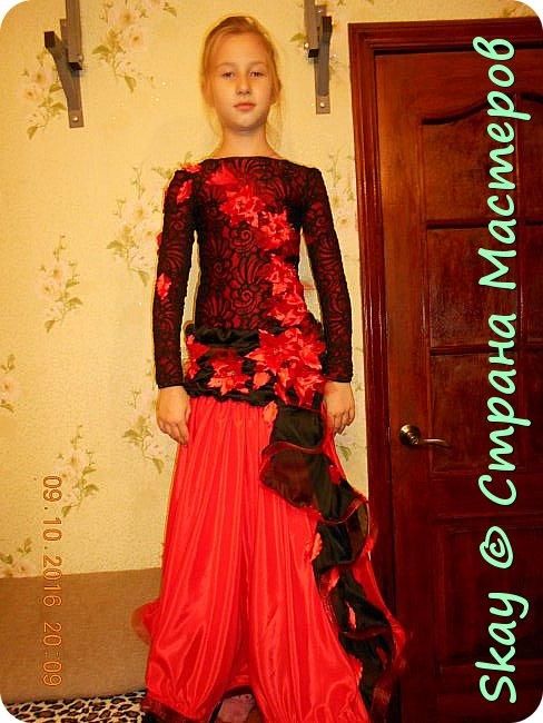 Моя последняя работа - платье в стиле фламенко для belli dance (восточные танцы). фото 5