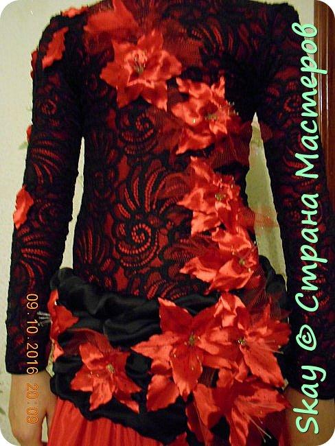 Моя последняя работа - платье в стиле фламенко для belli dance (восточные танцы). фото 3
