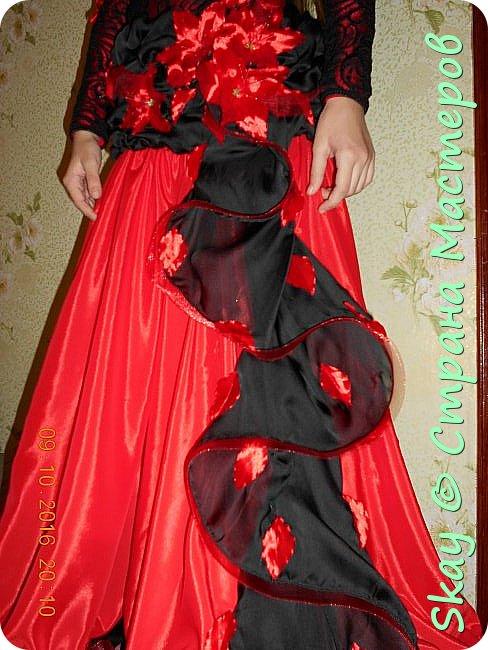 Моя последняя работа - платье в стиле фламенко для belli dance (восточные танцы). фото 6