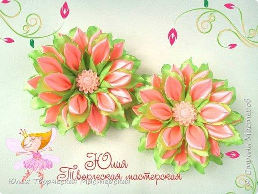 Весенний цветок канзаши бюджетный мастер класс