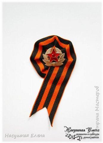 9 мая - День Великой Победы. Броши из георгиевской ленты (часть 1). фото 1
