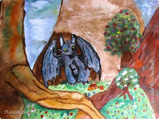 На конкурс детских рисунков Беззубик в лесу