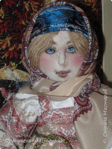 """Здравствуй, моя Страна!!! В преддверии """" Бажовского Фестиваля """" я пошила немного кукол в народной теме. Так родились на свет льняные куклы """"Садко  и Настасья"""". Рост кукол 35см., вся одежда снимается, выкройка моя. фото 2"""