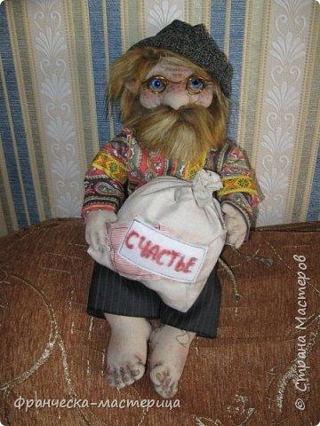 """Здравствуй, моя Страна!!! В преддверии """" Бажовского Фестиваля """" я пошила немного кукол в народной теме. Так родились на свет льняные куклы """"Садко  и Настасья"""". Рост кукол 35см., вся одежда снимается, выкройка моя. фото 4"""