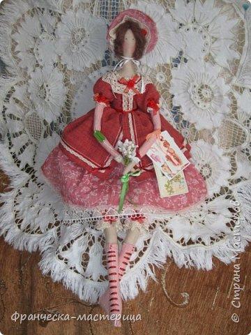 """Здравствуй, моя Страна!!! В преддверии """" Бажовского Фестиваля """" я пошила немного кукол в народной теме. Так родились на свет льняные куклы """"Садко  и Настасья"""". Рост кукол 35см., вся одежда снимается, выкройка моя. фото 6"""