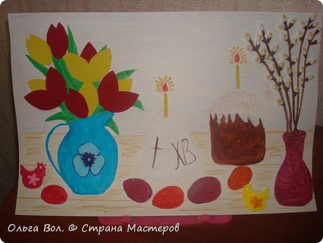 Корзина Пасхальная для школьной выставки. фото 4