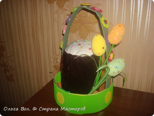 Корзина Пасхальная для школьной выставки. фото 2