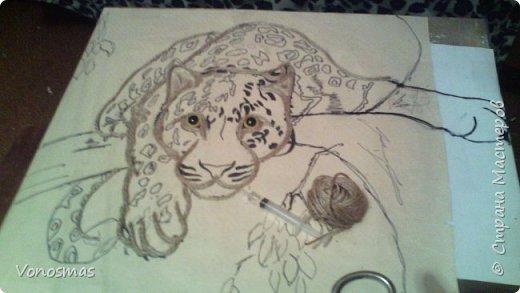 Всем привет. на ваш суд леопард из шпагата, кому интересно есть немного пошаговых фото. спасибо  что нашли время заглянуть фото 4