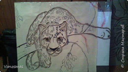 Всем привет. на ваш суд леопард из шпагата, кому интересно есть немного пошаговых фото. спасибо  что нашли время заглянуть фото 5