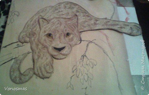 Всем привет. на ваш суд леопард из шпагата, кому интересно есть немного пошаговых фото. спасибо  что нашли время заглянуть фото 11