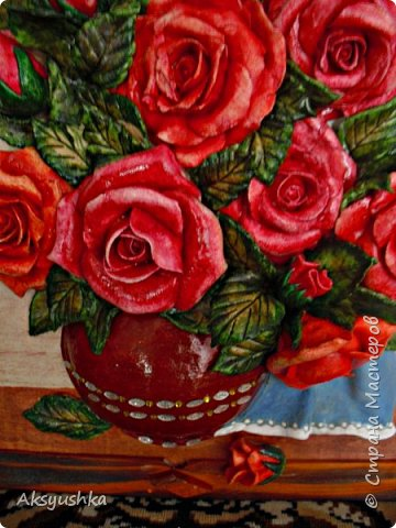 """Панно """"Розы"""" - юбилейный подарок. фото 2"""