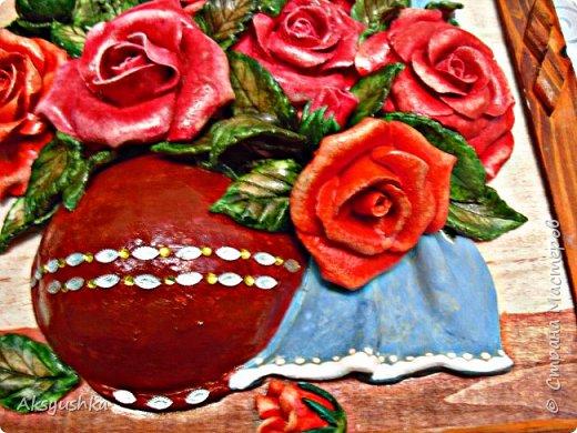 """Панно """"Розы"""" - юбилейный подарок. фото 3"""
