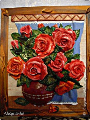 """Панно """"Розы"""" - юбилейный подарок. фото 1"""