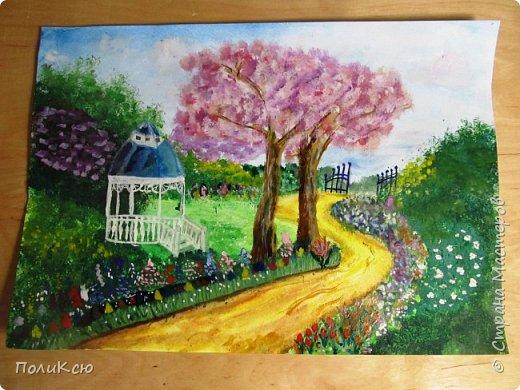 1. Рисунок Тюльпаны по мастер-классу  Helga 2013 http://stranamasterov.ru/node/890841.  фото 6