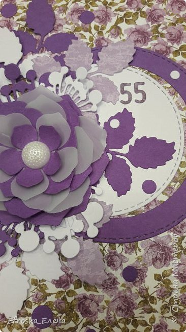 Очень мне понравилось использовать круги и вырубной цветок! Получается, что повторила свою работу и работу вдохновителя - Голубки http://stranamasterov.ru/node/1056631  фото 4
