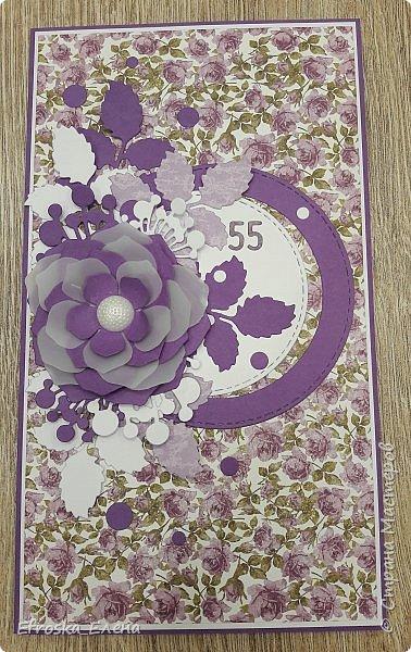 Очень мне понравилось использовать круги и вырубной цветок! Получается, что повторила свою работу и работу вдохновителя - Голубки https://stranamasterov.ru/node/1056631