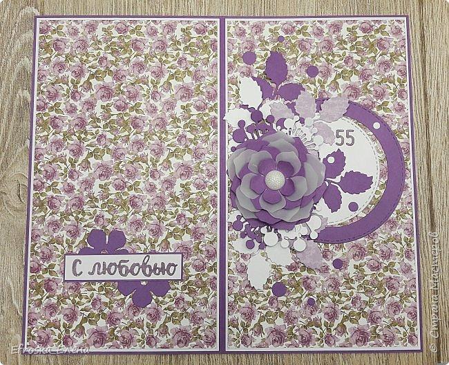 Очень мне понравилось использовать круги и вырубной цветок! Получается, что повторила свою работу и работу вдохновителя - Голубки http://stranamasterov.ru/node/1056631  фото 2